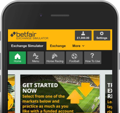 Screenshot of Betfair Simulator
