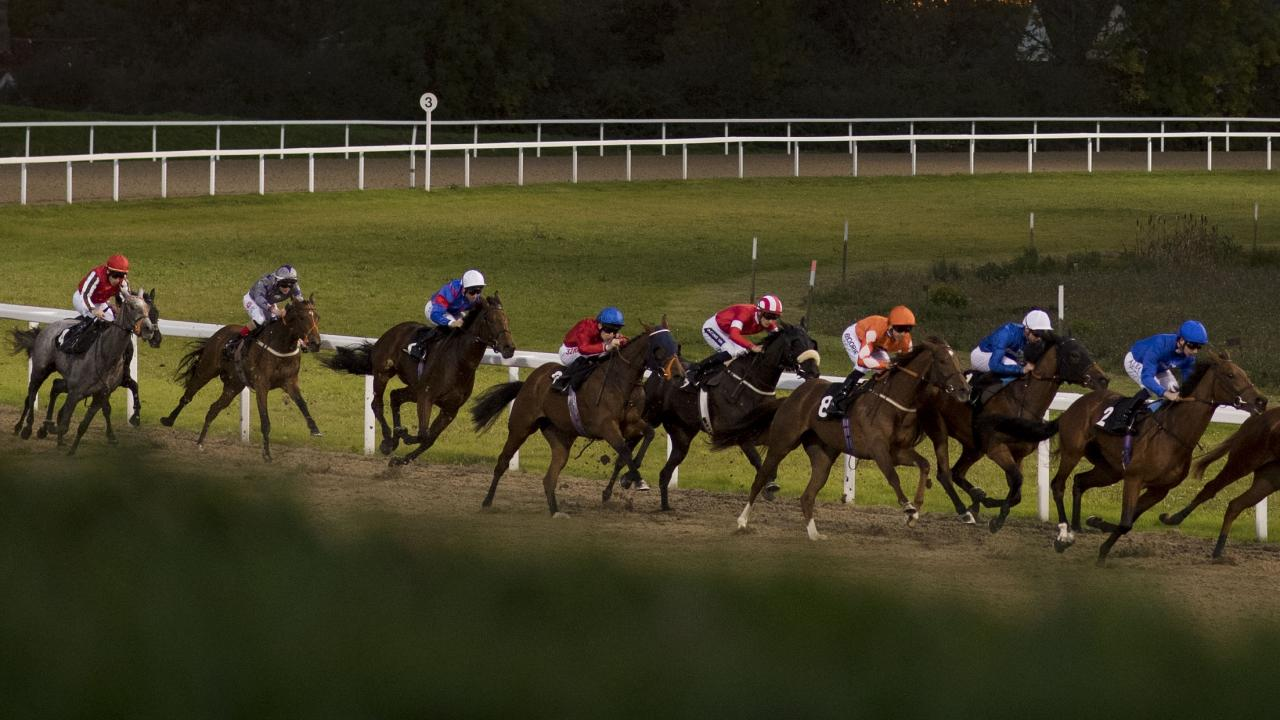 Horse racing action at Chelmsford