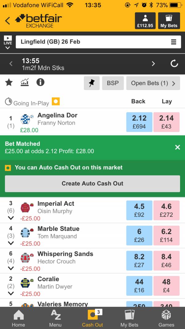 Betfair auto betting bet on monday night football