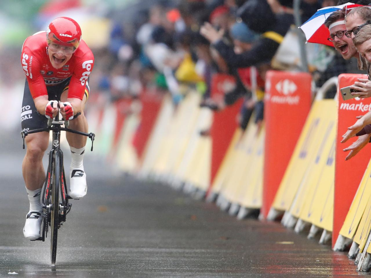 Andre Greipel won the final sprint on the Champs-Elysees in 2015 and 2016
