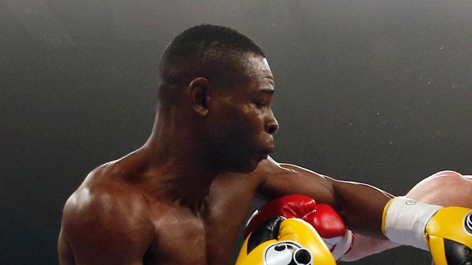 Punching power . . . Guillermo Rigondeaux in action