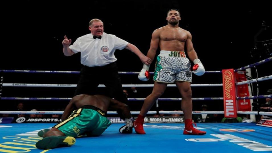 Tony Bellew shoves David Haye in throat at tense pre-fight head-to-head