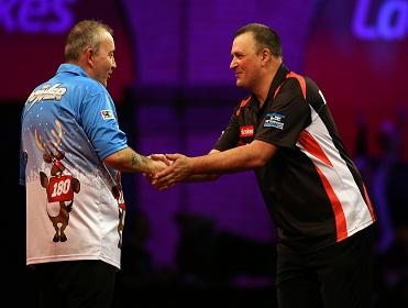 Phil Taylor had a scare against Rob Szabo in round one