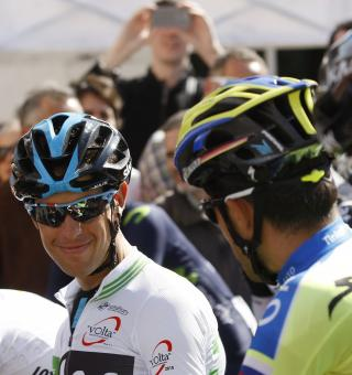 Contador (right) will view Porte (left) as his main rival in this year's Giro D'Italia