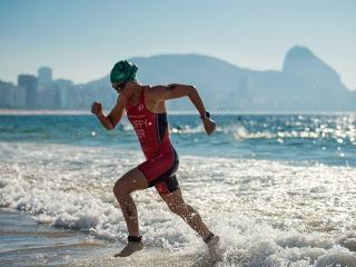 The Copacobana coastline provides the perfect backdrop for the Triathlon