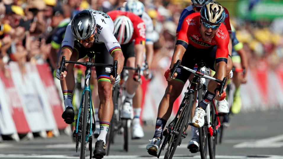 Peter Sagan and Sonny Colbrelli Stage 2 2018 Tour de France
