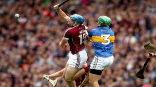 Tipperary and Galway players battle it out in the GAA