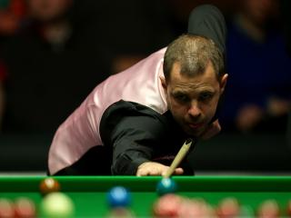 Barry Hawkins showed superb breakbuilding form to beat Judd Trump yesterday