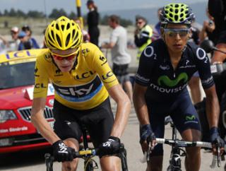 Chris Froome (left) will be hoping to repeat his hammering of Nairo Quintana (right) in last year's Tour De France