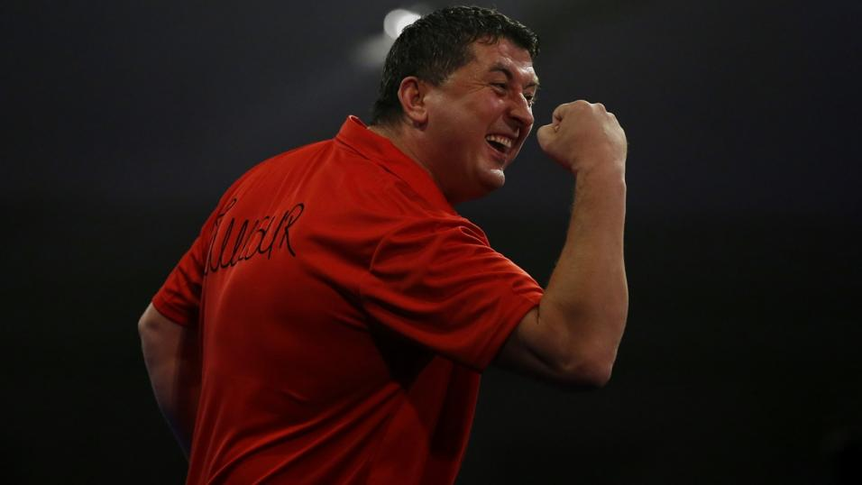 Austrian darts player Mensur Suljovic
