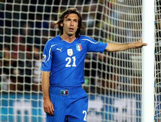 A player like Andrea Pirlo is ideal in the deep-lying midfielder position