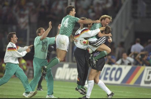 Germans celebrating a penalty shootout victory. We've seen this on far too many occasions...
