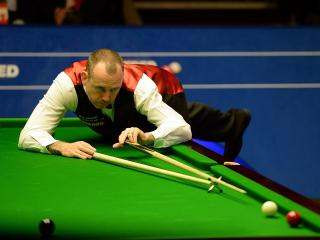 Twice former world champion Mark Williams in action