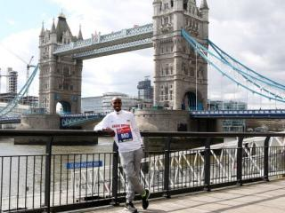 London calling - Mo Farah looking relaxed and ready