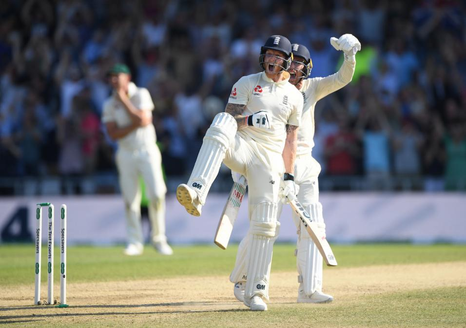 England cricketer Ben Stokes celebrates at Headingley