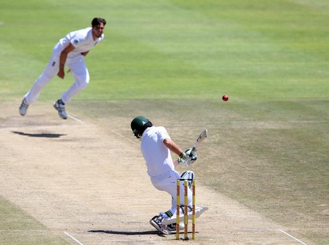Steven Finn leads the Middlesex attack
