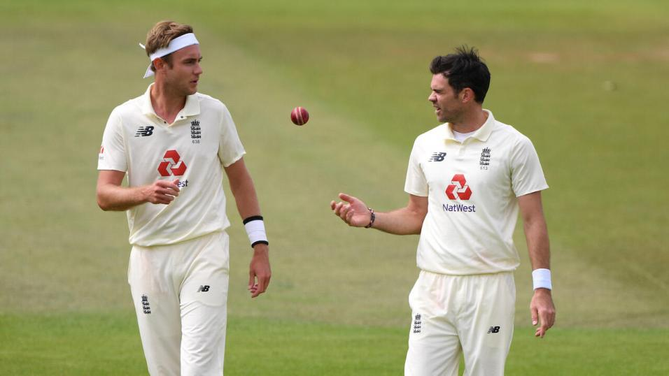 England bowlers Stuart Broad and Jimmy Anderson