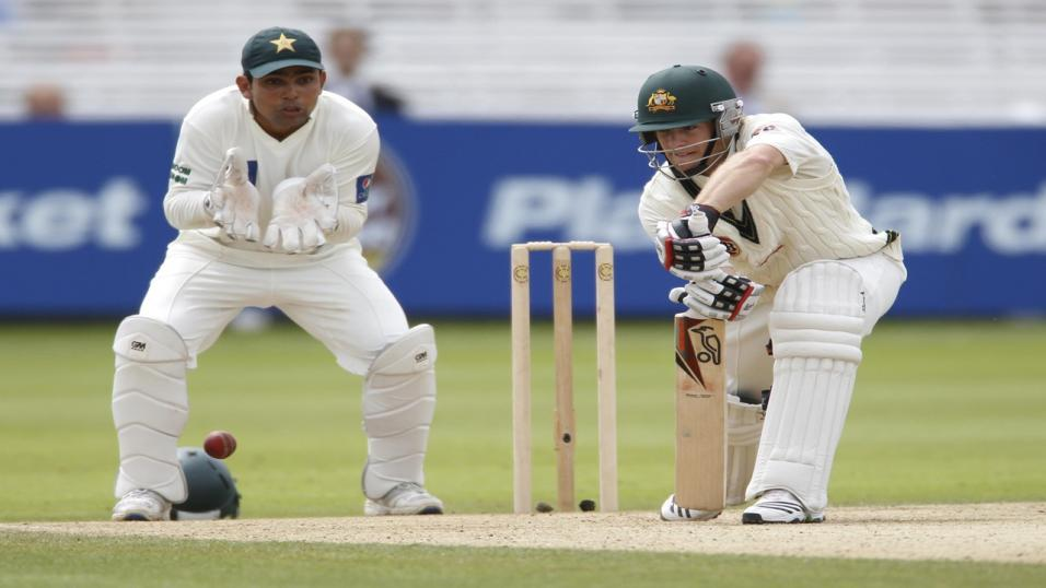 Pakistan batsman Mohammad Hafeez hits ton as Australia toil in Dubai