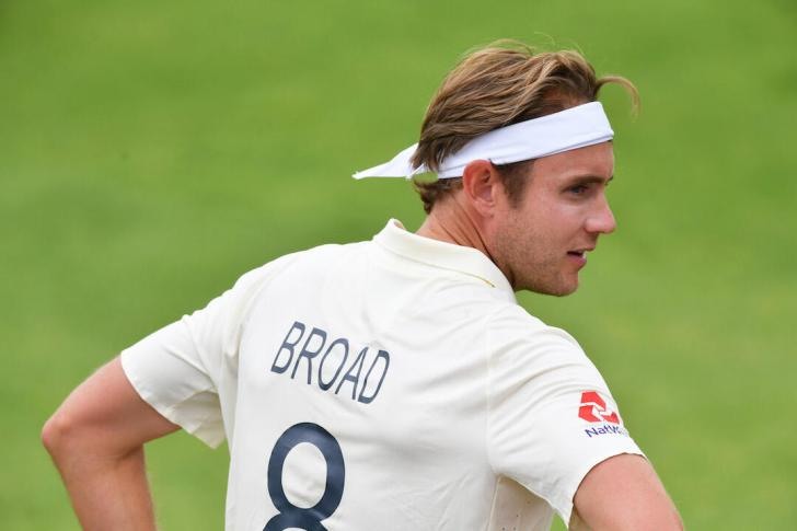Broad plays at the Ageas Bowl this time