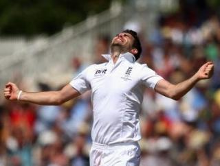 James Anderson worked hard but needs help from the groundsman