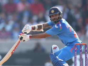 Dhawan hit a ton in Cuttack