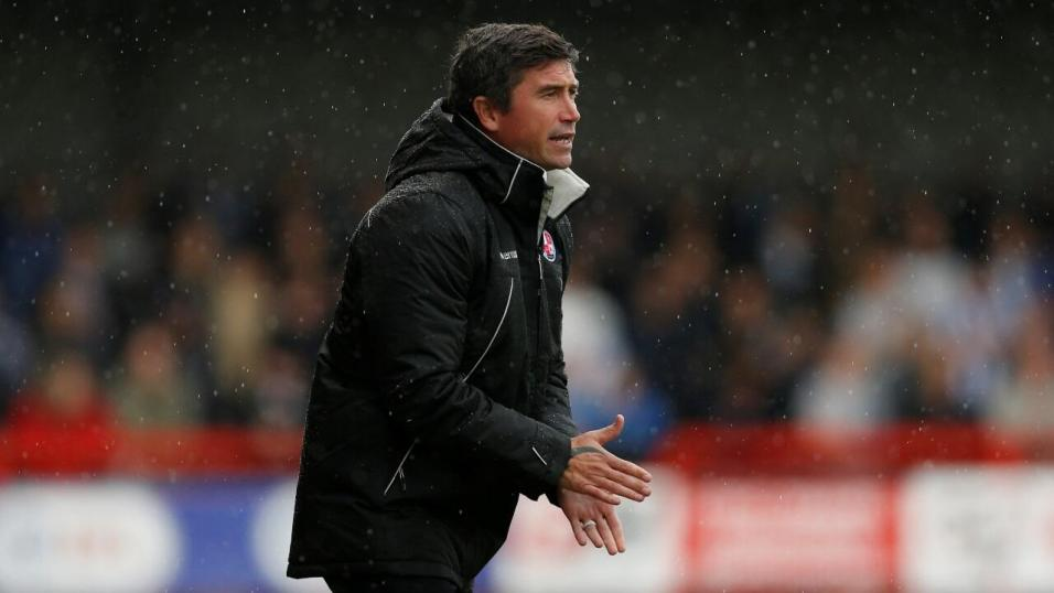 Harry Kewell, the Oldham Athletic manager