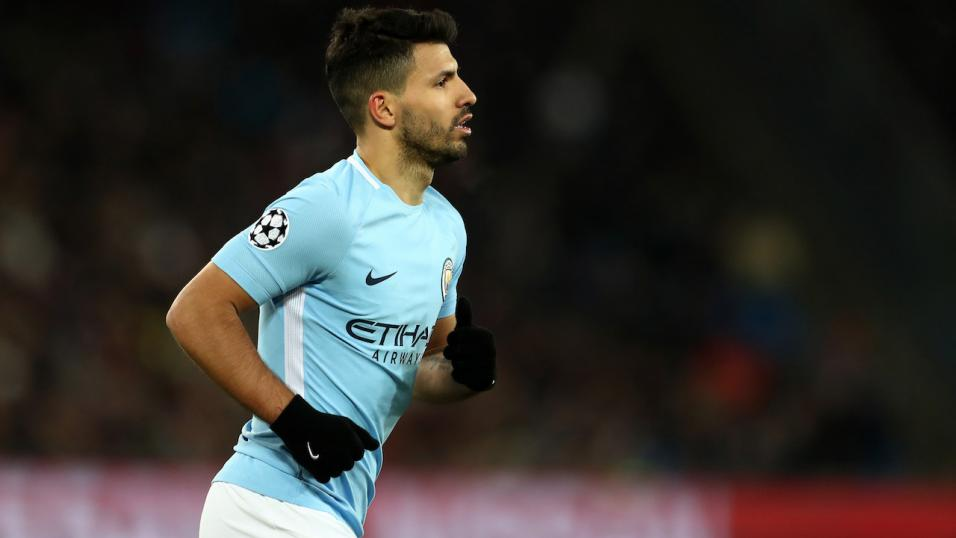 Man City striker Sergio Aguero