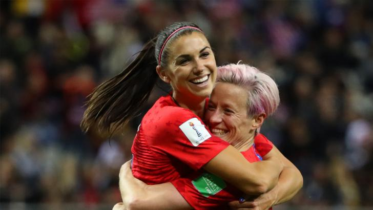 Megan Rapinoe and Alex Morgan