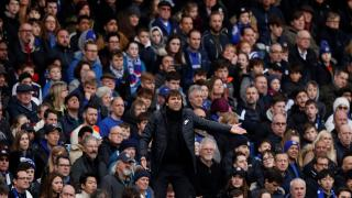 Antonio Conte managing Chelsea during an FA Cup match earlier this season