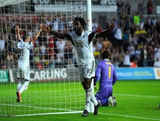 Wilfried Bony will fancy his chances against Arsenal