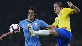Edinson Cavani and Filipe Luis