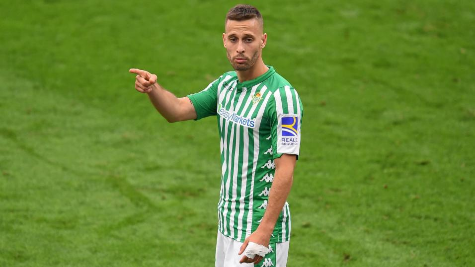 Real Betis midfielder Sergio Canales.