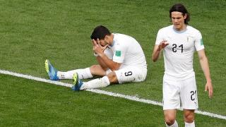 Uruguay strikers Edinson Cavani and Luis Suarez