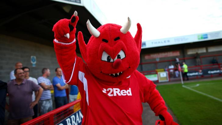 The Crawley Town Red Devil mascot