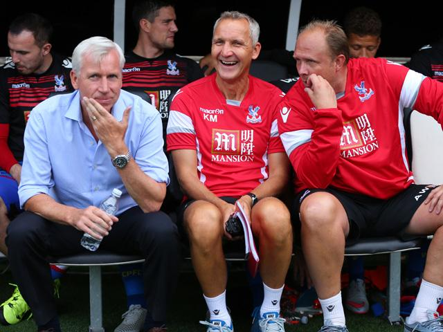 There have been lots of Crystal Palace smiles in the dugout at away games in 2015