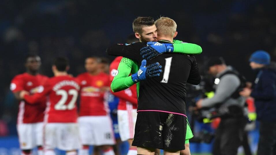 David De Gea and Kasper Schmeichel