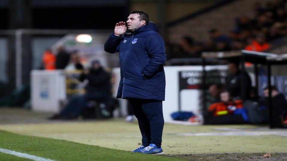 David Unsworth has built a good reputation with the u21s