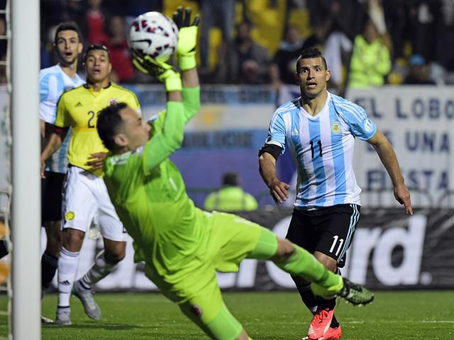 David Ospina made some stunning saves in Colombia's Copa America quarter-final clash with Argentina