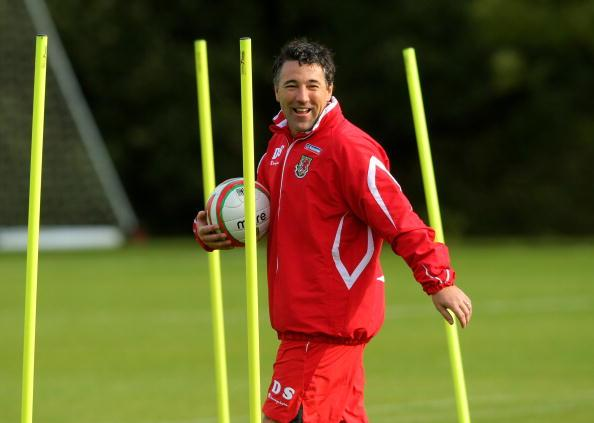 Crawley Town's manager Dean Saunders