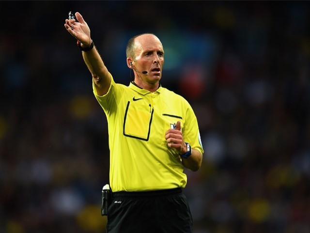 Mike Dean has awarded four penalties in four Premier League matches this season.