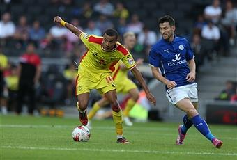 The MK Dons much sought-after midfielder Dele Alli (left) in action