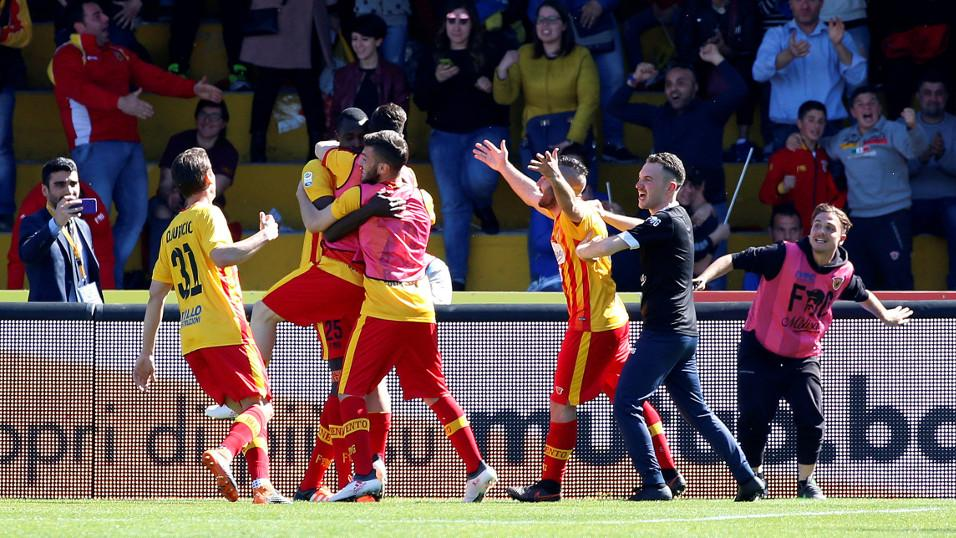 Cheick Diabate and Benevento celebrate