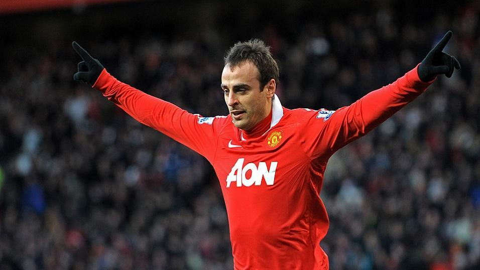Dimitar Berbatov playing for Manchester United