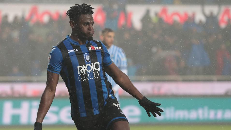 Zapata celebrates scoring against SPAL