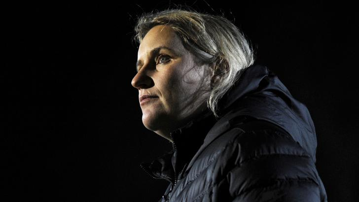 Chelsea boss Emma Hayes will look to mastermind another big win in the WSL title race