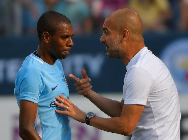 Pep Guardiola will ask Fernandinho to protect his three-man backline