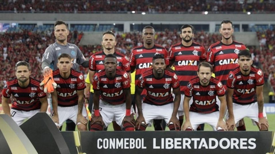Players of Flamengo line-up