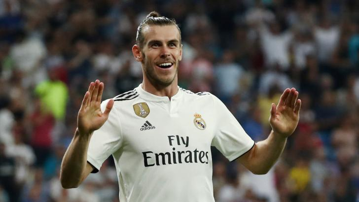 Gareth Bale celebrates for Real Madrid