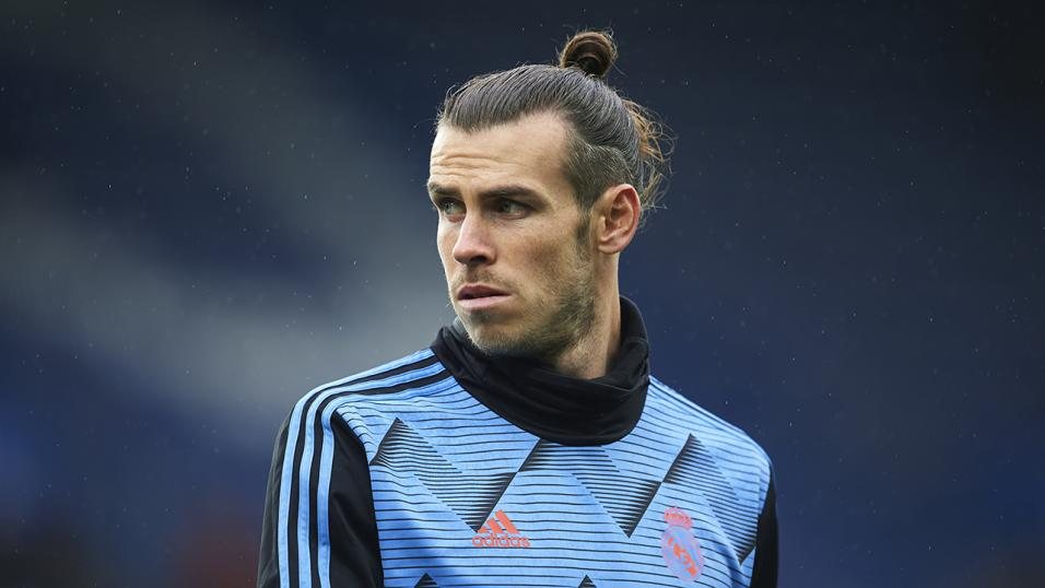 Gareth Bale training with Wales