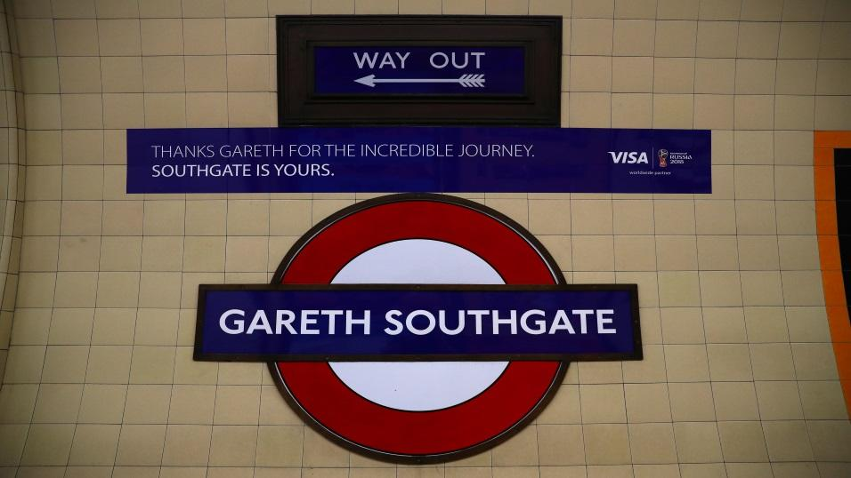A London Underground station was renamed 'Gareth Southgate' for one day